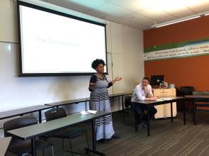 Cimone Schwoeffermann introduces the session
